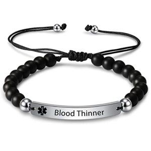Blood Thinner Natural Stone Beaded Medical ID